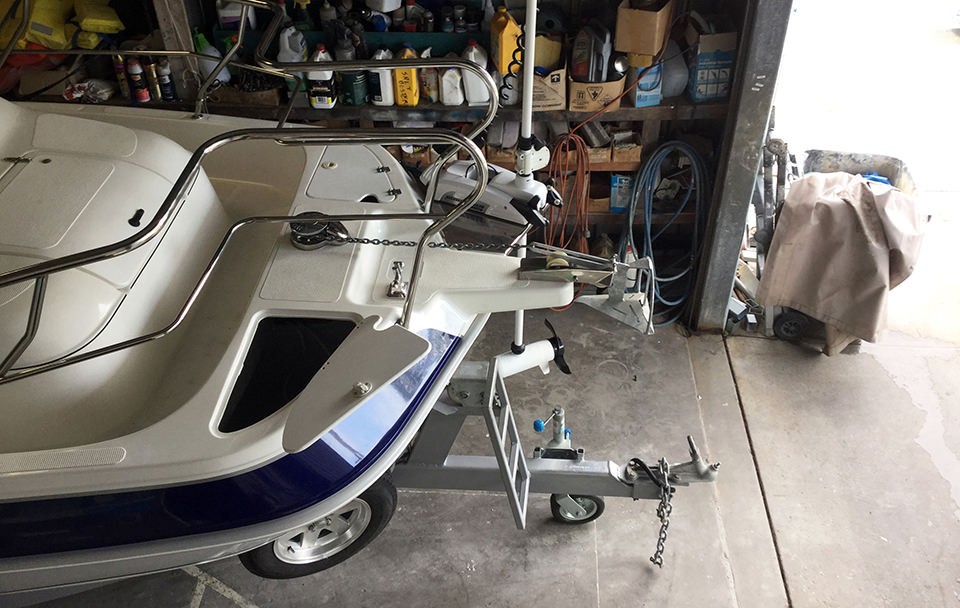 Custom built multi-hull powerboat allrounder boat in the workshop from Lifestyle Boats Queensland, located in Caloundra on the Sunshine Coast.