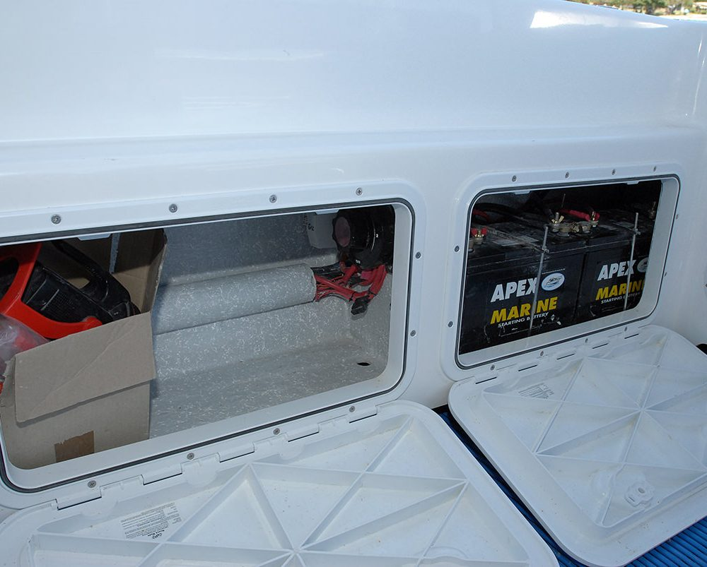hatches in cockpit liner of X-7400 Allrounder